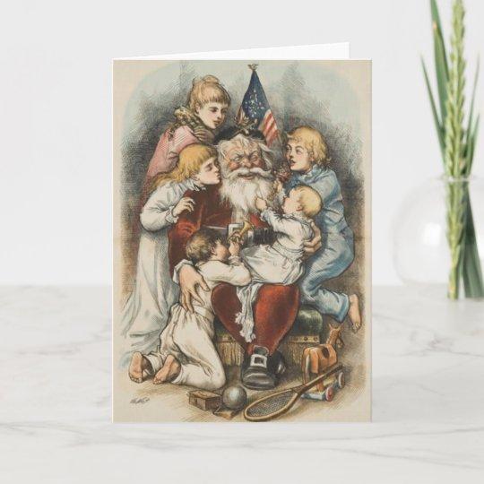 Amerikanische Weihnachtskarten.Vintage Amerikanische Weihnachtskarten Feiertagskarte