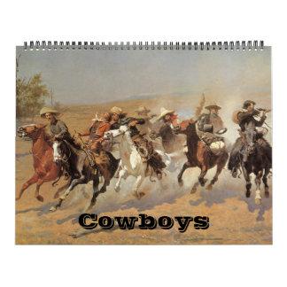 Vintage amerikanische Westcowboys, Western-feine Abreißkalender