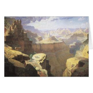 Vintage amerikanische Westkunst, Grand Canyon Karte