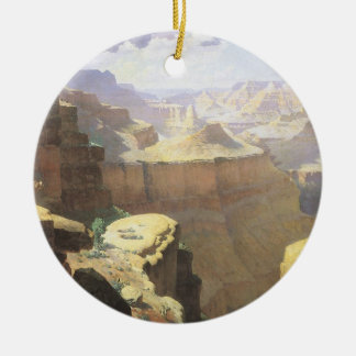 Vintage amerikanische Westkunst, Grand Canyon Keramik Ornament