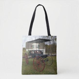 Vintage amische Buggy vor Bauernhaus Tasche