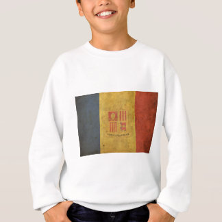 Vintage Andorra-Flagge Sweatshirt