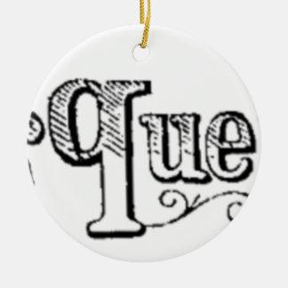 Vintage Anmerkungen und Fragen Typograf Rundes Keramik Ornament