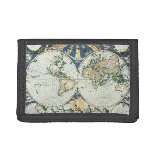 Vintage antike alte Weltkarte, 1666 durch