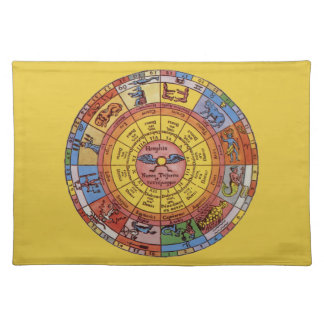 Vintage antike Astrologie, himmlisches Tischset