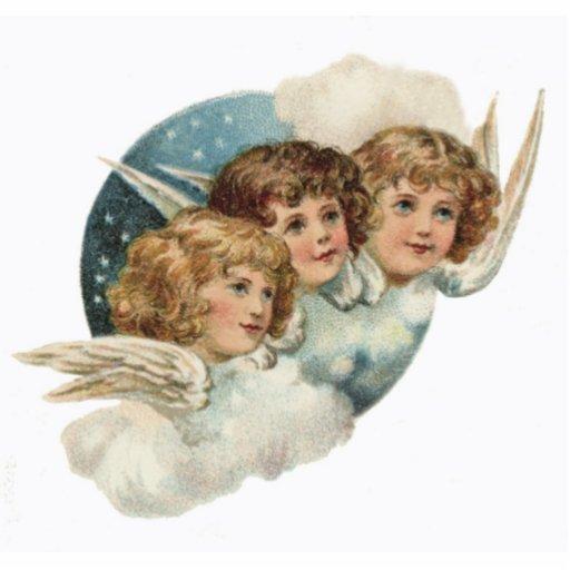 Vintage antike Engels-Weihnachtsverzierung Photofiguren