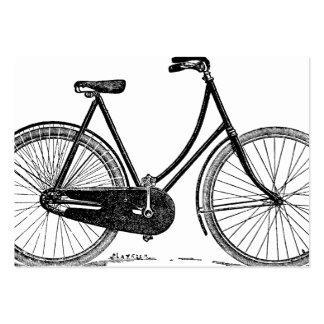 Vintage antike Fahrrad-Silhouette-Illustration Mini-Visitenkarten