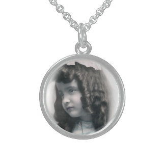 Vintage antike Fotosilberhalskette FromMyDesk Sterlingsilber Halsketten
