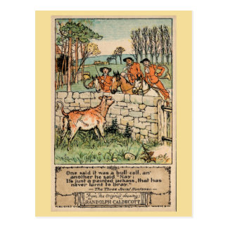 Vintage antike Jäger Randolph Caldecott (1) Postkarte