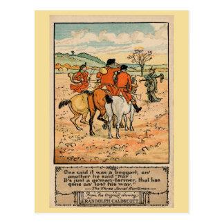 Vintage antike Jäger Randolph Caldecott (2) Postkarte