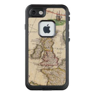 Vintage antike Karte des Vereinigten Königreichs LifeProof FRÄ' iPhone 8/7 Hülle