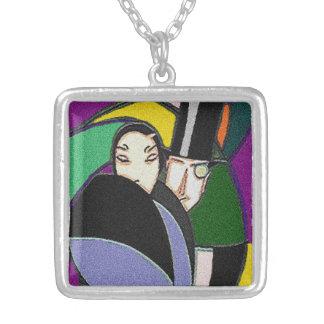 Vintage antike Kunst-Deko-Paar-Geschenk-Halskette