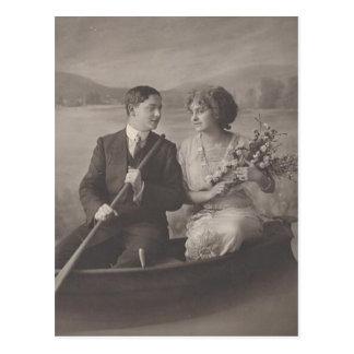 Vintage antike romantische Paar-Karten und Postkarte