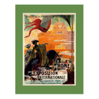 Vintage antike Romausstellungs-Reiseanzeige 1911 Postkarten