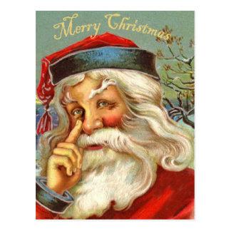 Vintage antike Sankt-Weihnachtspostkarte Postkarte