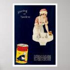 Vintage Anzeige für alten niederländischen Poster