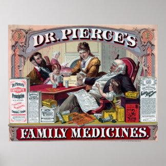 Vintage Anzeige für Medizin-Plakat Poster