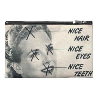 Vintage Anzeige-Reise-Zusatz-Tasche
