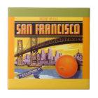 Vintage Anzeige San Francisco orange Fliese