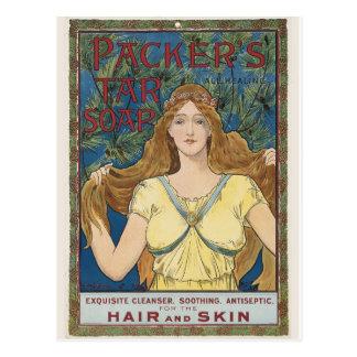 Vintage Anzeigen-Grafik-Postkarte