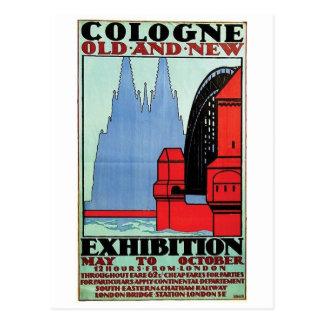 Vintage Anzeigen-Plakat-Postkarte Postkarte