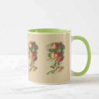 Vintage Äpfel Tasse