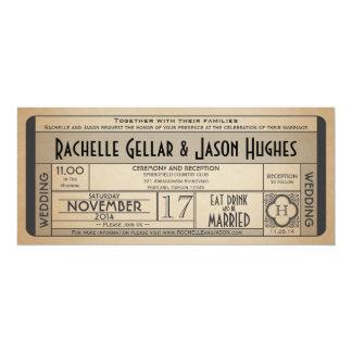 Vintage Ära 2,0 Vierzigerjahre der Hochzeits-Karte Einladungskarten