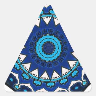 Vintage ARABISCHE Fliese Iznik, die Türkei, 16. Dreieckiger Aufkleber