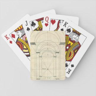 Vintage Architektur, Renaissance-Bogen-Perspektive Spielkarten