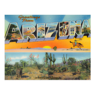Vintage Arizona-Postkarten-Collage Postkarte