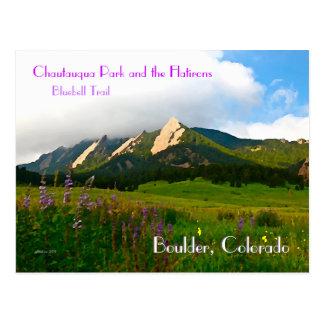 Vintage Art Boulders, Colorado Postkarte