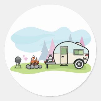 Vintage Art-Camper-Aufkleber Runder Aufkleber