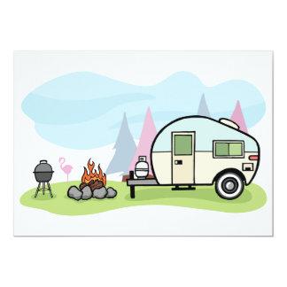 Vintage Art-Camper-Einladungen Karte