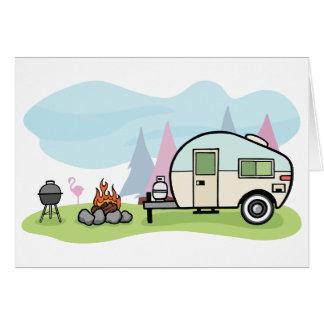 Vintage Art-Camper-Mitteilungskarten Karte