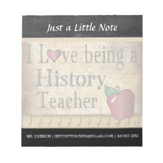 Vintage Art des Geschichtslehrer-| Notizblock