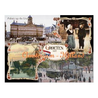 Vintage Art Holland-Postkarte Amsterdam Postkarte
