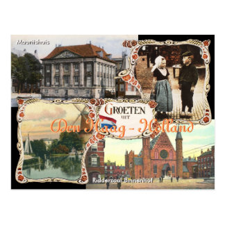 Vintage Art Holland-Postkarten-Höhle Haag Postkarte