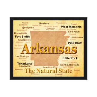 Vintage Art-Karte Arkansas Leinwanddruck