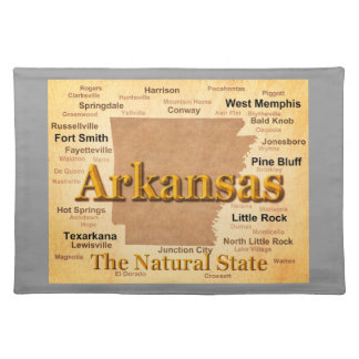 Vintage Art-Karte Arkansas Stofftischset