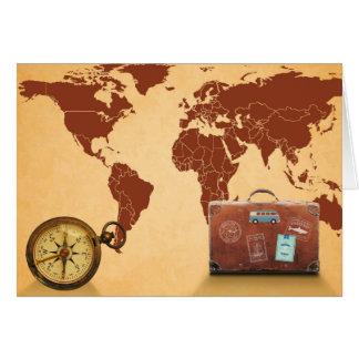 Vintage Art, Karte des Weltdruckes