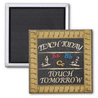 Vintage Art unterrichten heute Lehrer-Magneten Quadratischer Magnet