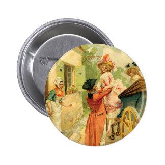 Vintage Art-Wagen-Knopf-Button des 18. Jahrhundert