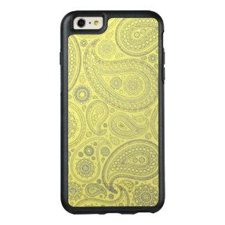 Vintage Asche farbiges Paisley auf gelbem OtterBox iPhone 6/6s Plus Hülle