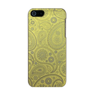 Vintage Asche weißes Paisley auf gelbem Incipio Feather® Shine iPhone 5 Hülle