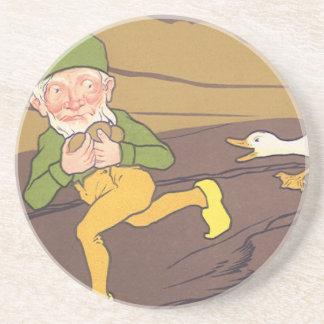 Vintage Äsop-Fabel-Gans, die das goldene Ei legte Getränkeuntersetzer