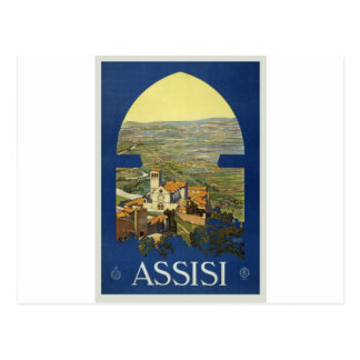 vintage-assisi-travel-poster. postkarte