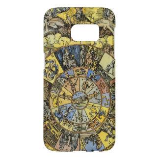 Vintage Astrologie, Renaisance Tierkreis-Rad, 1555