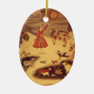 Vintage Astronomie, antike asiatische himmlische Keramik Ornament