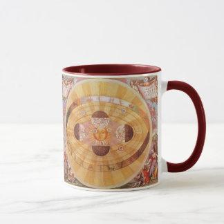 Vintage Astronomie, antikes Copernican Solarsystem Tasse