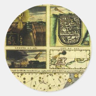 Vintage Astronomie, Stella Magorum, himmlische Runder Aufkleber